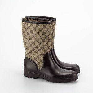 GUCCI Monogram Mid Rain Boots